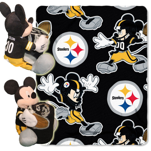 Pittsburgh Steelers Mickey Hugger W/ Throw