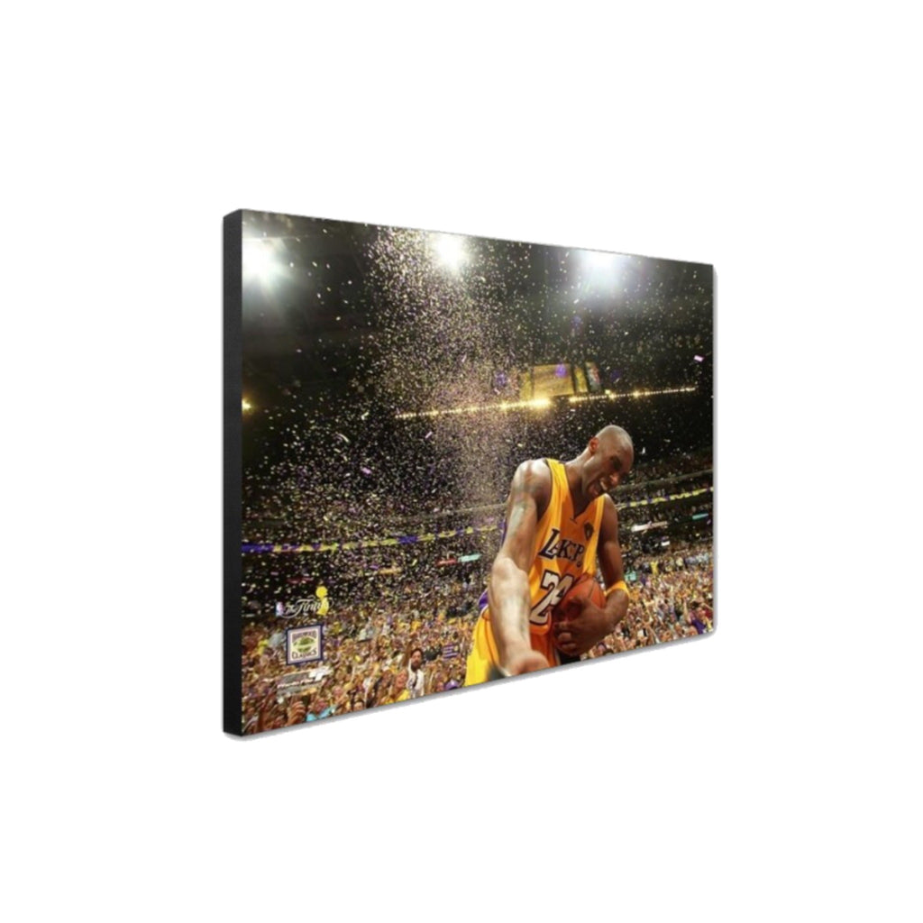Kobe Bryant Premium Canvas Wrap - 2010 NBA Champs Confetti