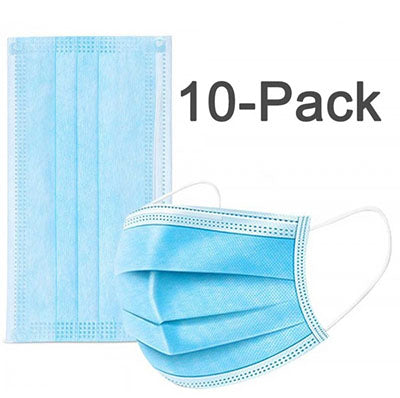 4PLY Disposable Face Masks - 10 Count