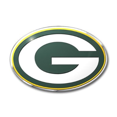 Green Bay Packers Auto Emblem Color