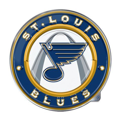 St. Louis Blues Auto Emblem Color