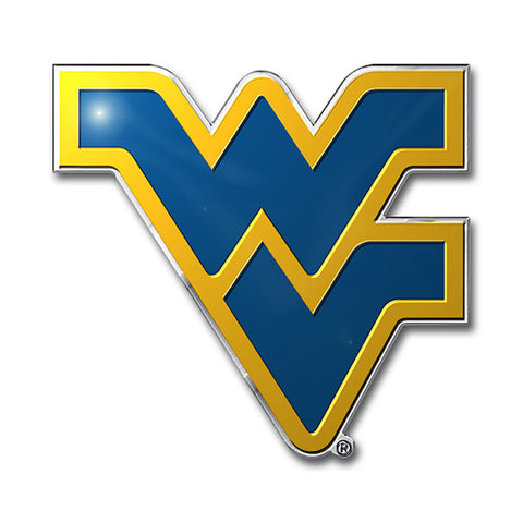 West Virginia Mountaineers Auto Emblem Color