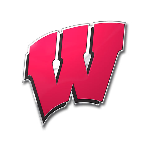 Wisconsin Badgers Auto Emblem Color
