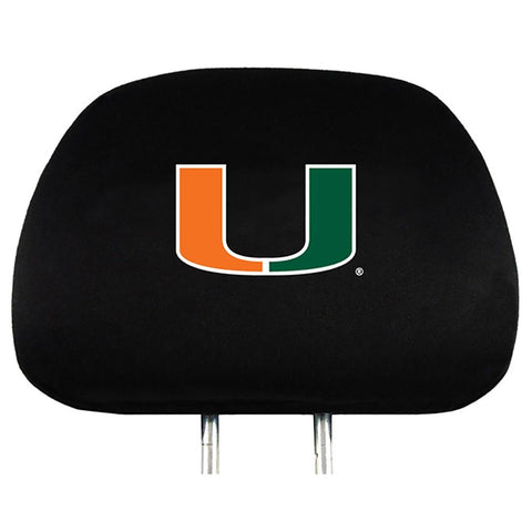 Miami Hurricanes Head Rest Cover