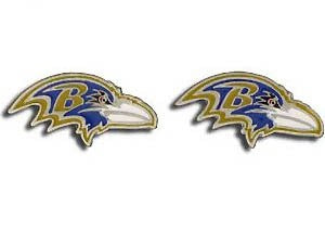 Baltimore Ravens Post Earrings Logo