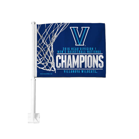 Villanova Wildcats 2016 Championship Car Flag