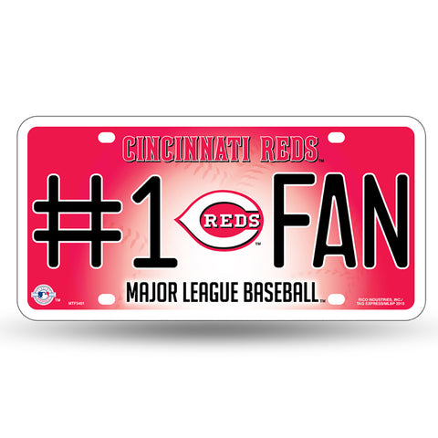 Cincinnati Reds # 1 Fan License Plate