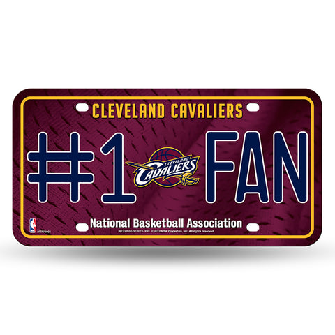 Cleveland Cavaliers # 1 Fan License Plate