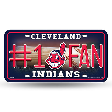 Cleveland Indians # 1 Fan License Plate