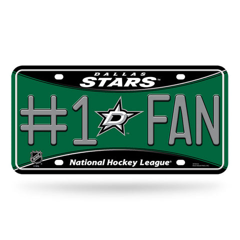 Dallas Stars # 1 Fan License Plate