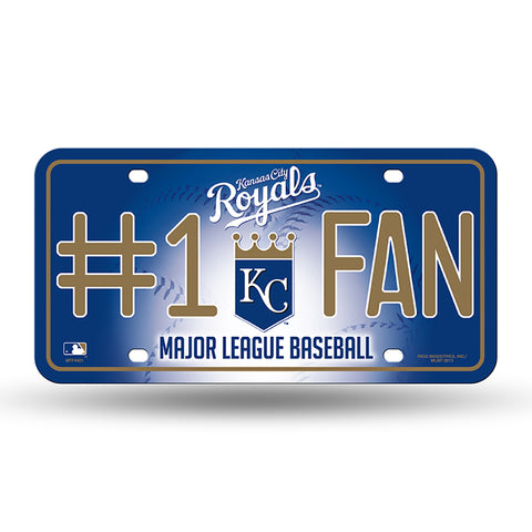 Kansas City Royals # 1 Fan License Plate
