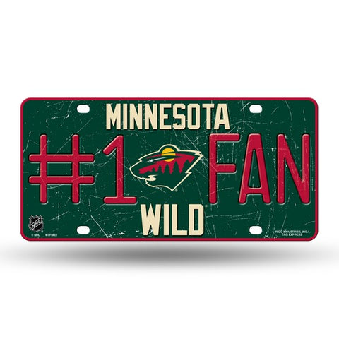 Minnesota Wild # 1 Fan License Plate