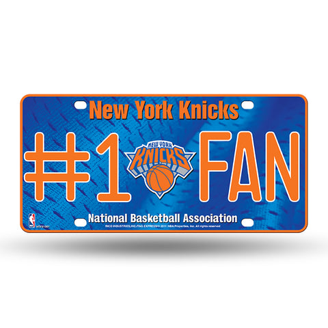 New York Knicks # 1 Fan License Plate