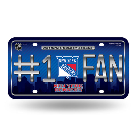 New York Rangers # 1 Fan License Plate