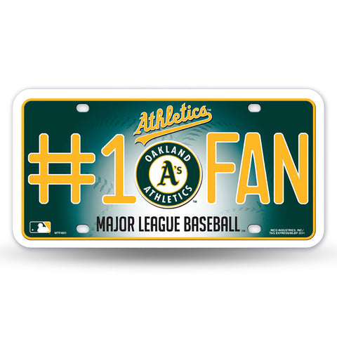 Oakland Athletics # 1 Fan License Plate