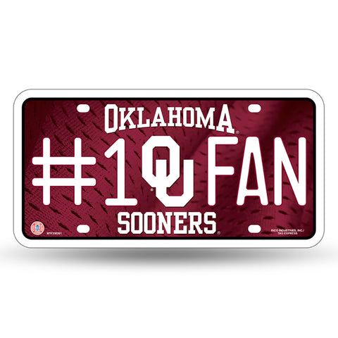 Oklahoma Sooners # 1 Fan License Plate