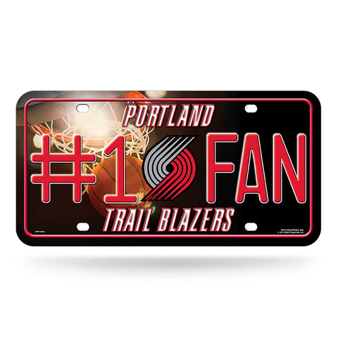 Portland Trail Blazers # 1 Fan License Plate