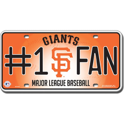 San Francisco Giants # 1 Fan License Plate