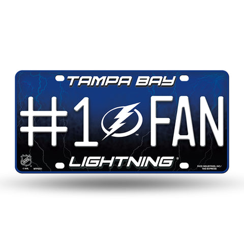 Tampa Bay Lightning # 1 Fan License Plate