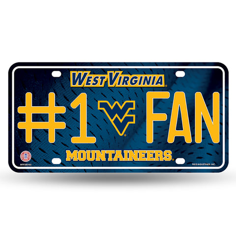 West Virginia Mountaineers # 1 Fan License Plate