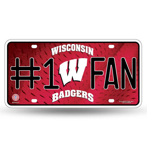 Wisconsin Badgers # 1 Fan License Plate