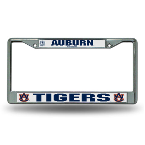 Auburn Tigers Chrome License Frame S