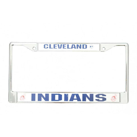 Cleveland Indians Chrome License Frame S