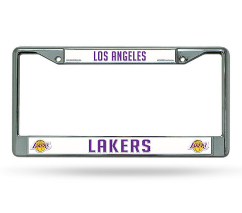 Los Angeles Lakers Chrome License Frame S