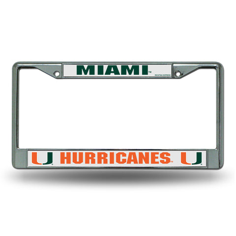 Miami Hurricanes Chrome License Frame S