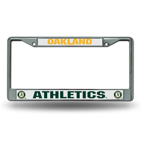 Oakland Athletics Chrome License Frame S