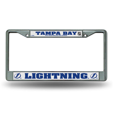 Tampa Bay Lightning Chrome License Frame S