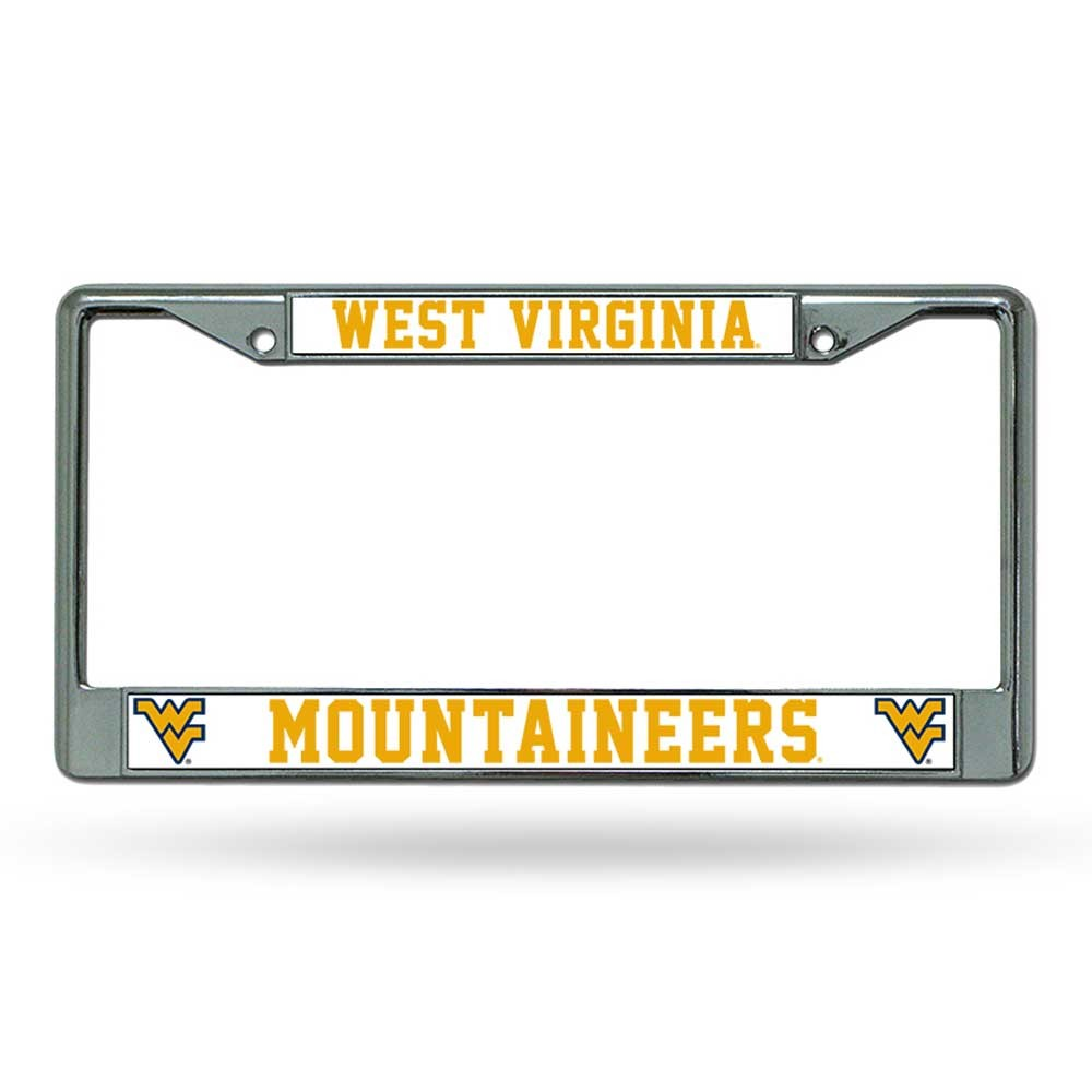 West Virginia Mountaineers Chrome License Frame S