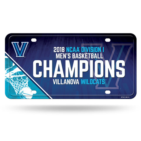Villanova Wildcats 2018 NCAA Men's Basketball Champions Metal Tag