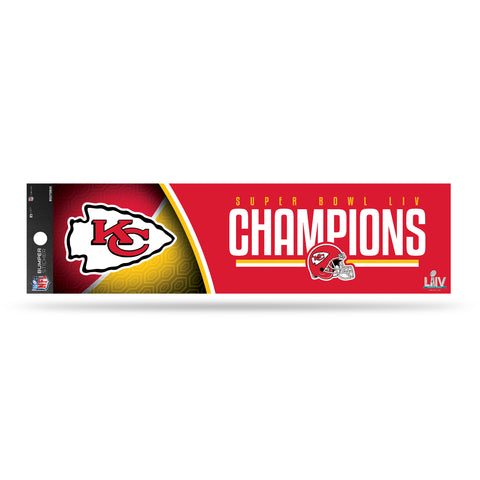 Kansas City Chiefs Super Bowl LIV Champion Bumper Sticker