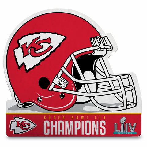 Kansas City Chiefs Super Bowl LIV Champion Helmet Die Cut Pennant