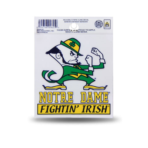 Notre Dame Fighting Irish Small Static Cling