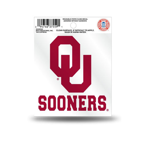 Oklahoma Sooners Small Static Cling
