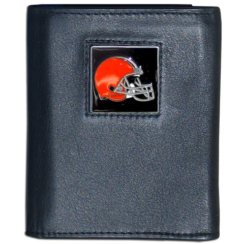 Cleveland Browns FineGrain Leather Wallet
