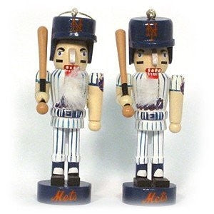 New York Mets 2pc Nutcracker Ornament