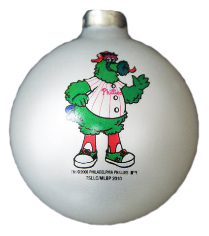 Philadelphia Phillies Glass Ornament (Phanatic)