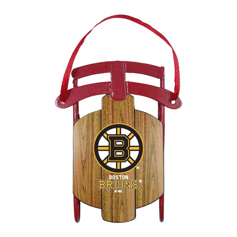 Boston Bruins Metal Sled Ornament