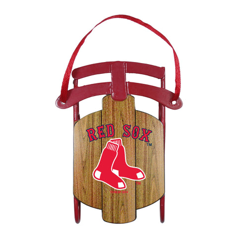 Boston Red Sox Metal Sled Ornament