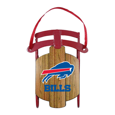Buffalo Bills Metal Sled Ornament