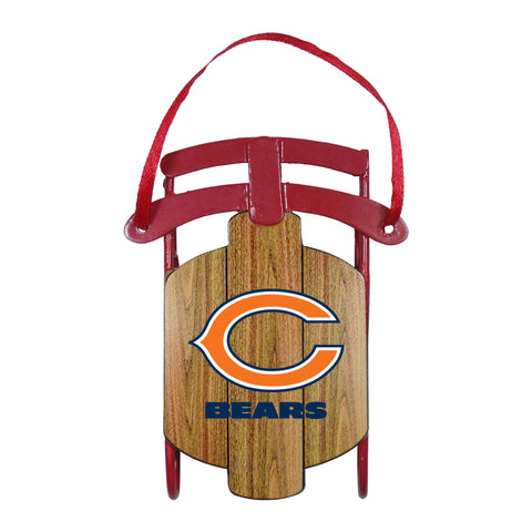 Chicago Bears Metal Sled Ornament