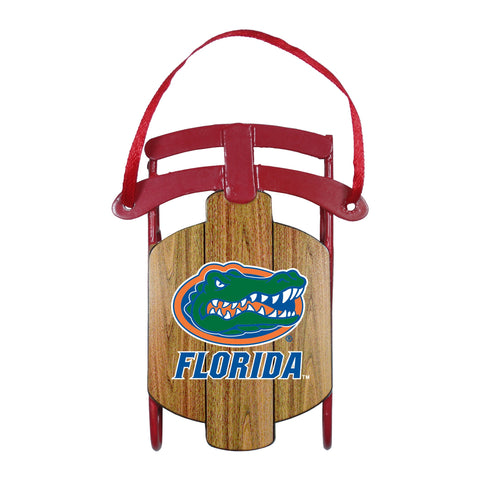 Florida Gators Metal Sled Ornament