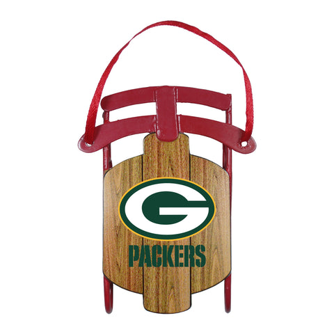 Green Bay Packers Metal Sled Ornament