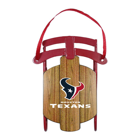Houston Texans Metal Sled Ornament