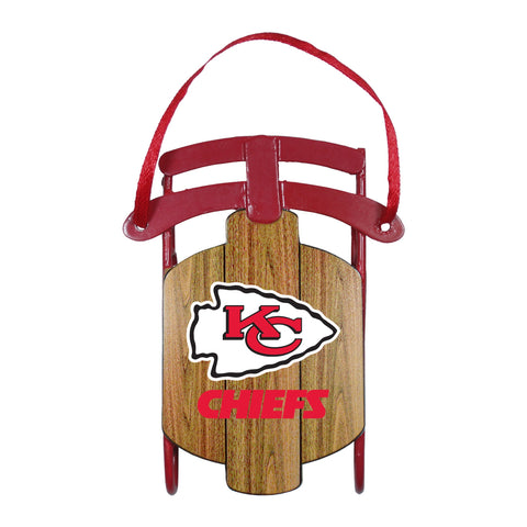 Kansas City Chiefs Metal Sled Ornament