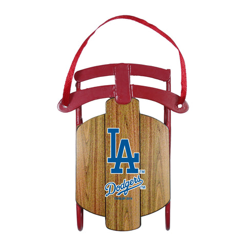 Los Angeles Dodgers Metal Sled Ornament