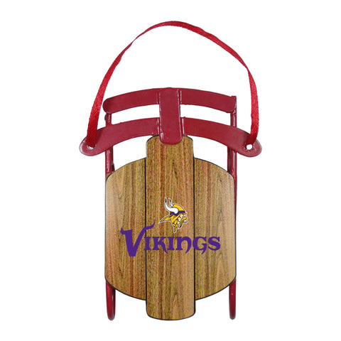 Minnesota Vikings Metal Sled Ornament